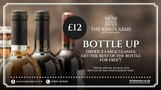 King's Arm's Bottle Up Promotion