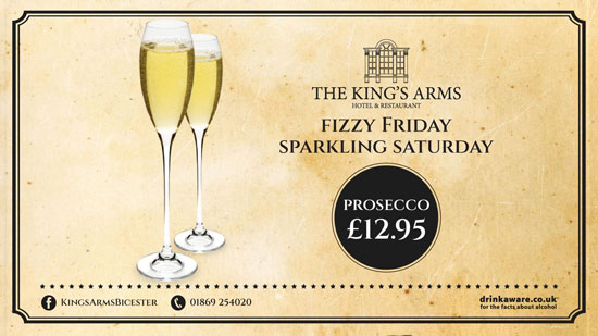 The King's Arms Fizzy Friday Promotion