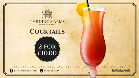 The Kings Arms Cocktails Promo