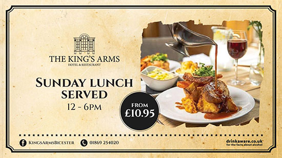 The Kings Arms Sunday Lunch Served