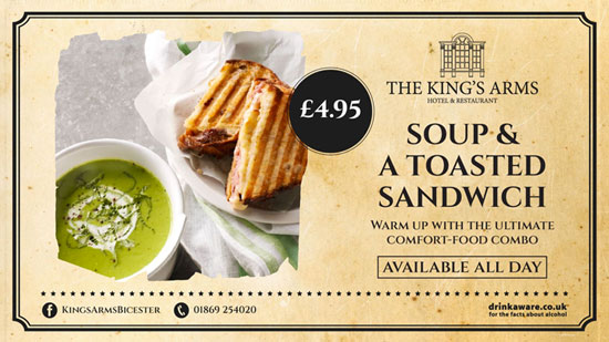 King's Arm's Hotel & Restaurant in Bicester - Soup and Sandwich